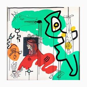 Stampa Apocalypse in seta di Keith Haring, anni '80