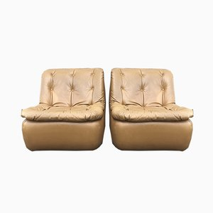Vintage Lounge Chairs by Michel Cadestin for Airborne, 1970s, Set of 2