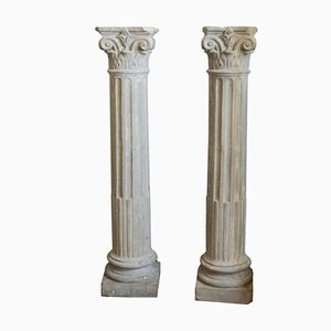 Italienische Vintage Säulen aus Beton, 1950er, 2er Set