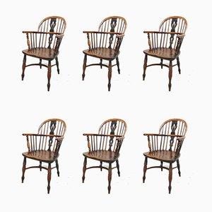 Chaises de Salle à Manger Windsor à Dossier Bas, Set de 6
