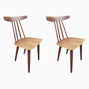 Vintage Danish Dining Chairs by Poul Volther for Frem Røjle, 1960s, Set of 2