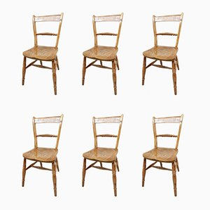 Antique Rope Twist Dining Chairs, Set of 6