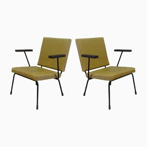 Poltrone nr. 415/1401 di Wim Rietveld per Gispen, 1954, set di 2
