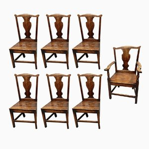 Antique Dining Chairs, Set of 7