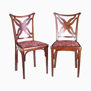 Antique Side Chairs by Josef Hoffmann for J & J Kohn, Set of 2