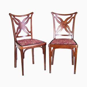 Chaises d'Appoint Antiques par Josef Hoffmann pour J & J Kohn, Set de 2
