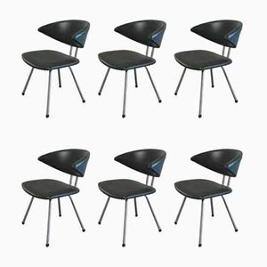 Model 7211 Mickey Dining Chairs from Gebr. de Wit, 1950s, Set of 6