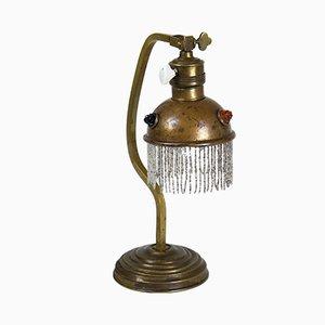 Lampada da tavolo Art Nouveau in ottone, inizio XX secolo