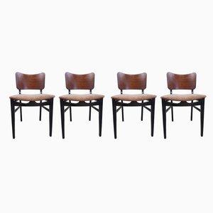 Mid-Century Esszimmerstühle von Beauilllty, 1950er, 4er Set