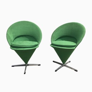 Kegelförmige Vintage K1 Sessel von Verner Panton, 2er Set