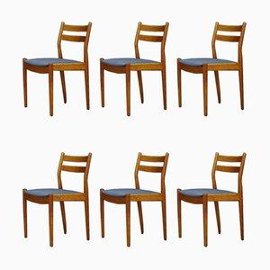 Chaises de Salle à Manger en Teck par Poul Volther, 1960s, Set de 6
