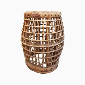 Mid-Century Wicker Stool, 1970s