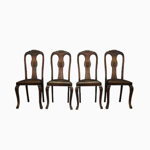 Art Deco Style Dining Chairs, 1960s, Set of 4