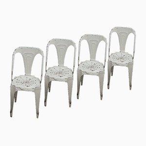 Vintage Bistro Chairs by Joseph Mathieu for La Société Industrielle des meubles Multipl's, Set of 4