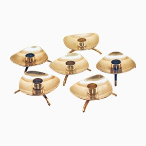 Danish Candle Holders from Cohr, 1950s, Set of 6