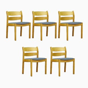 Sedie da pranzo di Kurt Østervig per FDB, anni '60, set di 5