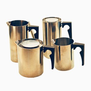 Cylinda Coffee Service by Arne Jacobsen for Stelton, 1970s, Set of 4