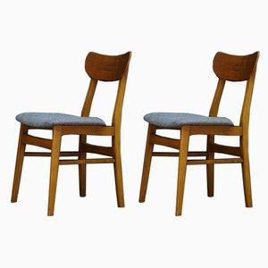 Vintage Scandinavian Teak Dining Chairs, 1960s, Set of 2