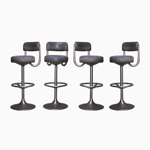Swedish Swivel Bar Stools by Börje Johanson for Johanson Design, 1970s, Set of 4