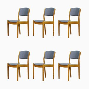 Vintage Ash Dining Chairs by Poul Volther for FDB, 1960s, Set of 6
