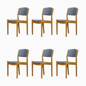 Vintage Esszimmerstühle aus Eschenholz von Poul Volther für FDB, 1960er, 6er Set