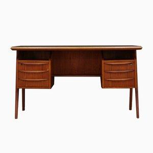 Vintage Teak Desk by G. N. Tibergaard, 1970s