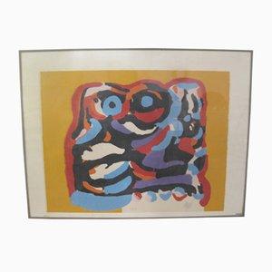 Lithographie De Gele Olifant par Karel Appel, 1975