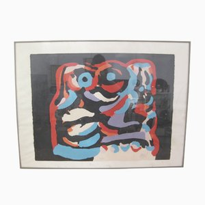 The Black Elephant Lithograph by Karel Appel, 1975