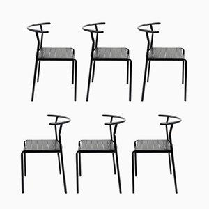 Chaises de Café par Philippe Starck pour Baleri Italia, années 80, Set de 6