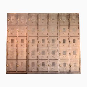 Industrial Steel Modular Locker Cabinet from Timothy Oulton, 2000s