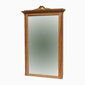 Art Deco Walnut Beveled Mantel Mirror, 1920s