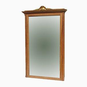 Art Deco Walnut Beveled Mantel Mirror, 1920s