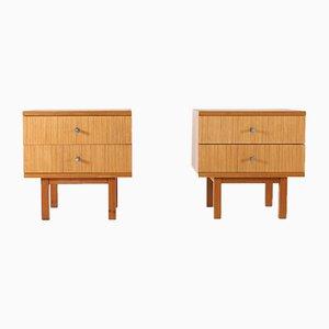 Tables de Chevet Vintage en Bois de Zébrano par Pieter de Bruyne pour V-Form, 1960s, Set de 2