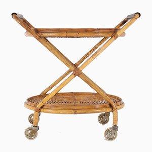 Carrito de bambú y cuero, años 60