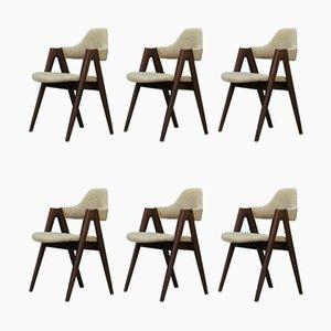 Chaises de Salle à Manger Compass Vintage par Kai Kristiansen, Danemark, 1960s, Set de 6