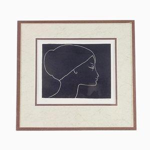 Mid-Century Lithografie von Ota Janecek