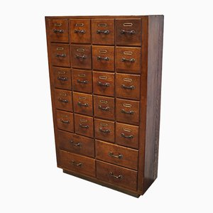 Vintage Dutch Oak Apothecary Cabinet, 1930s