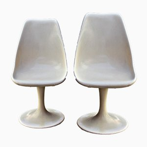 Fiberglass Tulip Table & 2 Chairs Set, 1960s