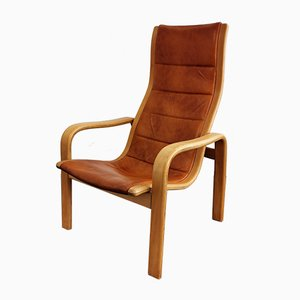 Melano Beech Armchair by Yngve Ekström for Swedese, 1970s