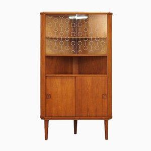 Mueble esquinero vintage de teca, años 60