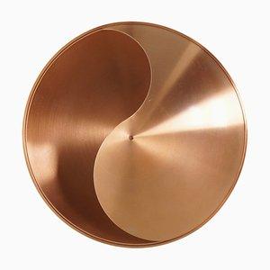 Aplique Yin Yang de cobre de Hermian Sneyders de Vogel para Raak, años 70
