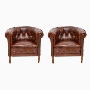 Antique Swedish Armchairs, Set of 2