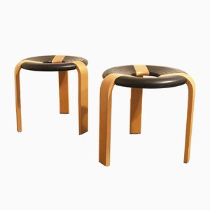 Vintage Stools by Thygesen for Magnus Olesen, 1970s, Set of 2