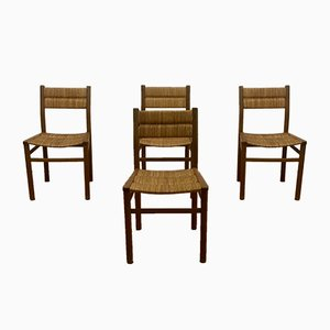 French Model Weekend Dining Chairs by Pierre Gautier-Delaye, 1950s, Set of 4