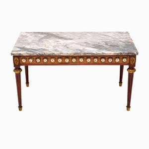 Antique French Marble Top Coffee Table, 1930s