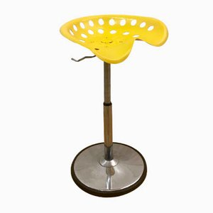 French Model 1970 Yellow Stool by Étienne Fermigier, 1970s