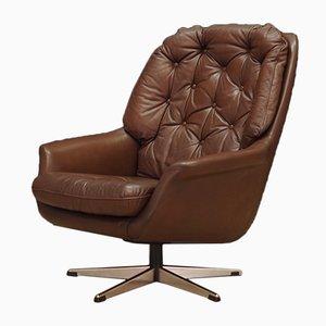 Vintage Danish Leather Armchair, 1960s