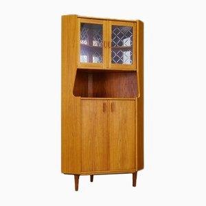 Vintage Danish Teak Corner Cabinet, 1960s