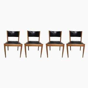 Esszimmerstühle mit Bezug aus Skai, 1960er, 4er Set