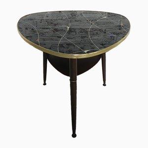 Mesa de centro con tablero de vidrio, años 50